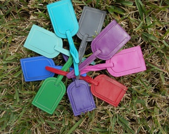Small Leather Luggage Tag Embroidery Blank
