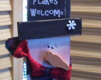Snowman: Flakes Welcome