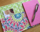 Mini List Taker, Organizer, Coupon Holder, Geofabulous in Pink by Maude Asbury, Notepad And Pen/Pencil Included