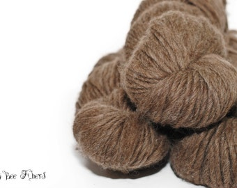 Natural Brown Blue Face Leicester Bulky Chunky Wool Yarn for Knitting, Corcheting, Weaving - 150 yards approx
