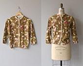 Winter Bramble cardigan | vintage 1950s cardigan | angora wool 50s sweater