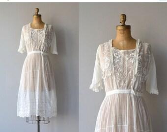 25% OFF SALE Avalon dress   Edwardian cotton dress   vintage 1910s tea dress