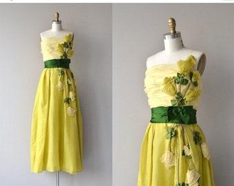 25% OFF.... Philip Hulitar silk gown   vintage 1950s dress   formal 50s dress