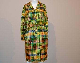 Vintage Shirt Dress Mod  Serbin 60's to 70's
