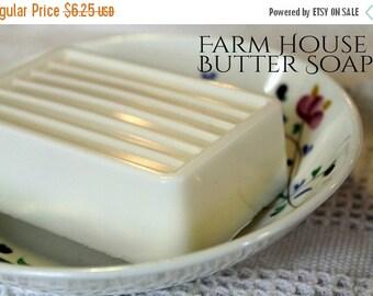 Sale Shea Butter Soap- Amber White Ginger- Farm House Butter Soap large 5 oz. - Vegan, shea butter, coco butter, mango butter, argan oil, ve