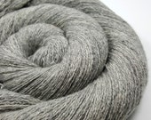 Pure Cashmere Yarn - Recycled Lace - Cashmere Yarn - Silver Gray 130915