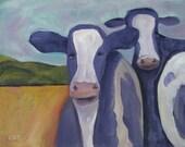 Matted print, Pt. Reyes Cows II SALE!