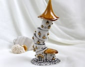 Reserved for Nancy - Honey Summer Gothic romantic tower -- unique Hand Made Ceramic Eco-Friendly Home Decor by studio Vishnya