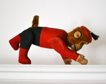 1920s Toy Yes/No Mechanical Schuco Bellhop Monkey Works Original-Vintage Toy-Vintage Monkey-Mechanical Toy-Antique Toy