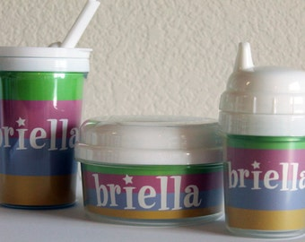 SUPER STAR - kids personalized snack cup, sippy cup, and straw tumbler cup