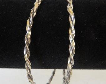 Vintage Sterling Twisted Rope Bangles