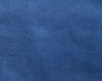 Blue Faux Suede Fabric / Microsuede / Suedette - Large Fat Quarter - Vegan Suede
