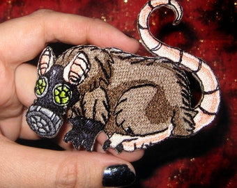 Plague Rat  Gas Mask Steam Punk Iron ON Patch plague survivor