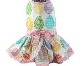 All Over Easter Eggs Dog Dresses