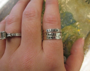 The Claire Ring - Sterling Silver Custom Message Ring