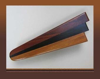 HUGE Artisan Handmade Pieced Wood Barrette/Hair Clip,Hair Ornament/Jewelry,Vintage Accessories,Women