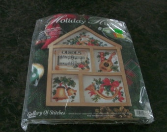 Bucilla Galary of Stitches Kit - Holiday Hutch 7x10 inches