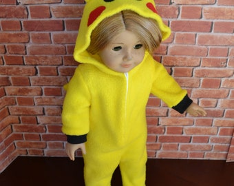 18 inch Doll Clothes - Yellow Monster Sleeper or Costume - MADE TO ORDER  - fits American Girl