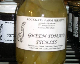 Green Tomato Pickles, Scrumptious, 16oz 1 Pint