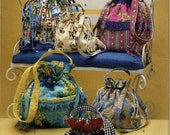 Drawstring Purse Victorian Reticule Simplicity 3531 Pattern Handbag Shoulder Bag Out Of Print Uncut OOP