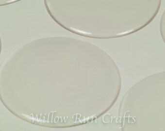 100 Pack 2 inch Circle Clear Epoxy Domes, 2 inch Resin Stickers  (01-05-190)