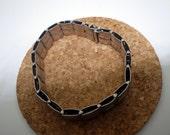 Sterling Silver Bracelet - Link Style - Vintage - Italy