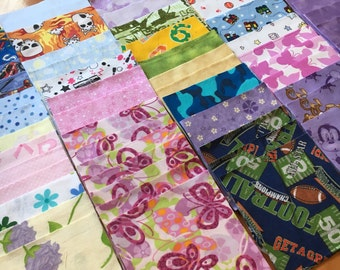 136 6 inch flannel squares quilt kit - Great for I Spy or rag quilt - boy/girl/solid / Charm pack