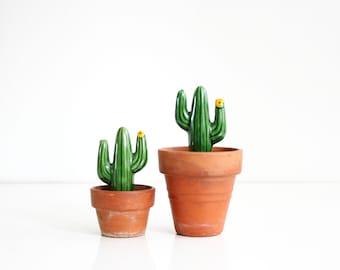 Vintage Cactus Salt and Pepper Shakers / Vintage Saguaro Shakers from Japan