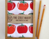 Tomatoes screen printed tea towel