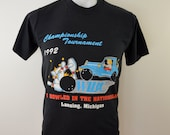 sale Vintage 1992 WIBC Bowling Championship t-shirt size Medium made in USA