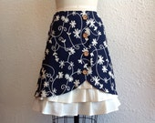 Reserved for Elizabeth- Bella linen ruffle front skirt Sz 8