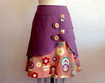 Matryoshka double layer skirt Sz 8