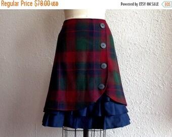 SALE Yvette wool ruffle front skirt Sz 8