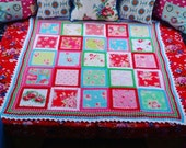 Patchwork crochet, fabric...