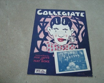 1925  vintage sheet music (  Collegiate  )