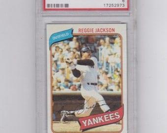 1980 Topps Reggie Jackson  # 600 baseball card graded EX -MT 6   by  P.S.A. Yankees