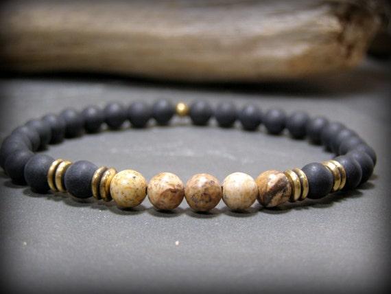 Mens Beaded Bracelet, Stone Bracelet, Native American, Bracelet for Men, Bead Bracelet, Southwest Jewelry, Guys Bracelet, Mens Bracelet