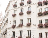Paris Photography, St Germain Pink Floral Balconies, Parisian Windows, Living Room Art, Paris Balcony, Pink Wall Art, Rebecca Plotnick