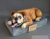 RESERVED Custom Bulldog Pet Urn (BALANCE) for jofairclot