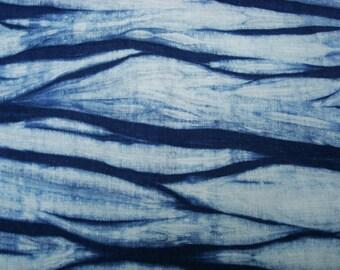 Hand Dyed Indigo Fabric, Hemp Fabric, Shibori Linen, Embroidery Material