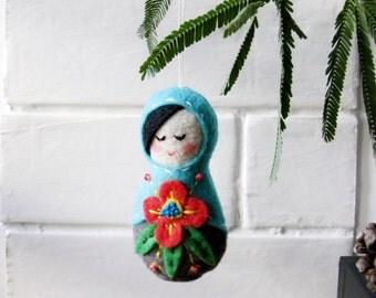 Floral Matryoshka (Russian) Doll Ornament
