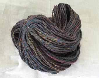 Black rainbow handspun yarn
