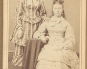 Antique CDV Photo Young Sisters By W.L. Edwards Ashland, Ohio