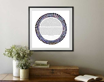 Three Rings Ketubah || Jewish wedding contract illuminated wedding vows