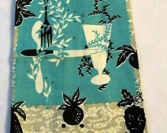 Vintage Tea Towel, Vintage Kitchen, Pure Linen, ART MART, Vintage 1960s Linen Dish Towel, Kitchen Towel, Tea Towel