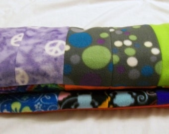 Patchwork Baby Blanket, Baby Blanket, Baby Quilt, Fleece Baby Blanket, Patchwork Fleece Quilt, Boy Blanket, Girl Blanket