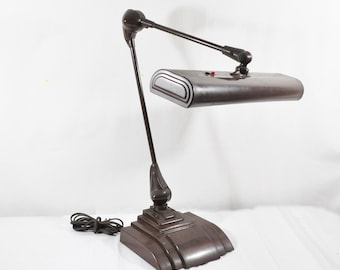 Large Industrial Flexo Drafting Desk Lamp