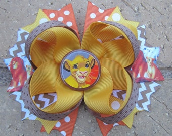 The Lion King Simba Inspired Custom Boutique Hair Bow made to match Disney World or Disneyland Vacation