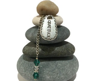 Gratitude Rock Cairn, Thankful, Appreciation, Teacher Gift, Centered, Grace, Praise, Law of Attraction, Desk Gift, Secret Santa, Holiday