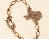 Copper Texas ID Charm Bracelet